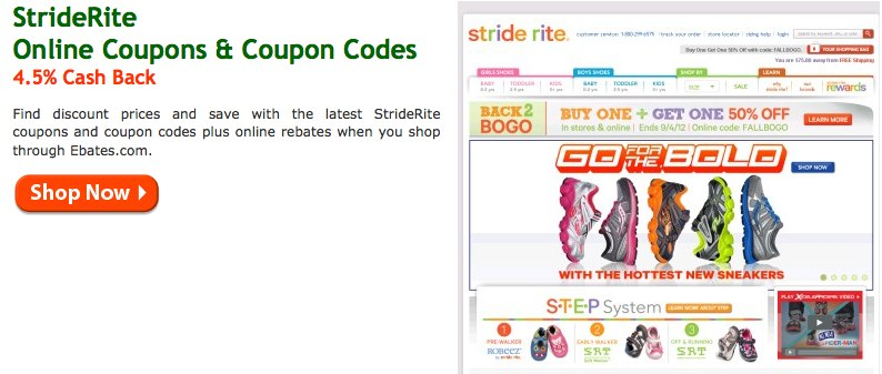 Stride Rite BOGO Deal