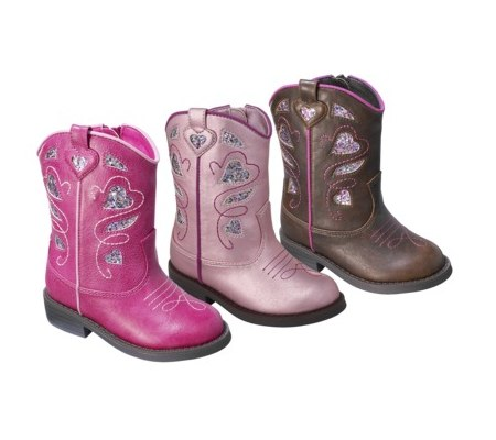 Toddler Girls Cowboy Boots $16 Shipped