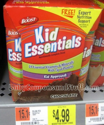 Boost Kid Essentials Printable Coupon