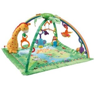 Fisher-Price Rainforest Melodies and Lights Deluxe Gym_ Baby-1