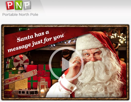 Santa | PNP - Portable North Pole | Free personalized video message